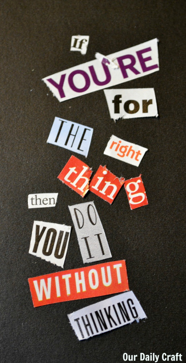 ransom note words