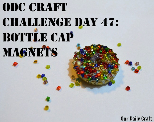 Easy craft bottle cap magnets