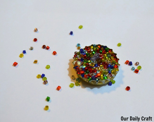 beads in bottle cap