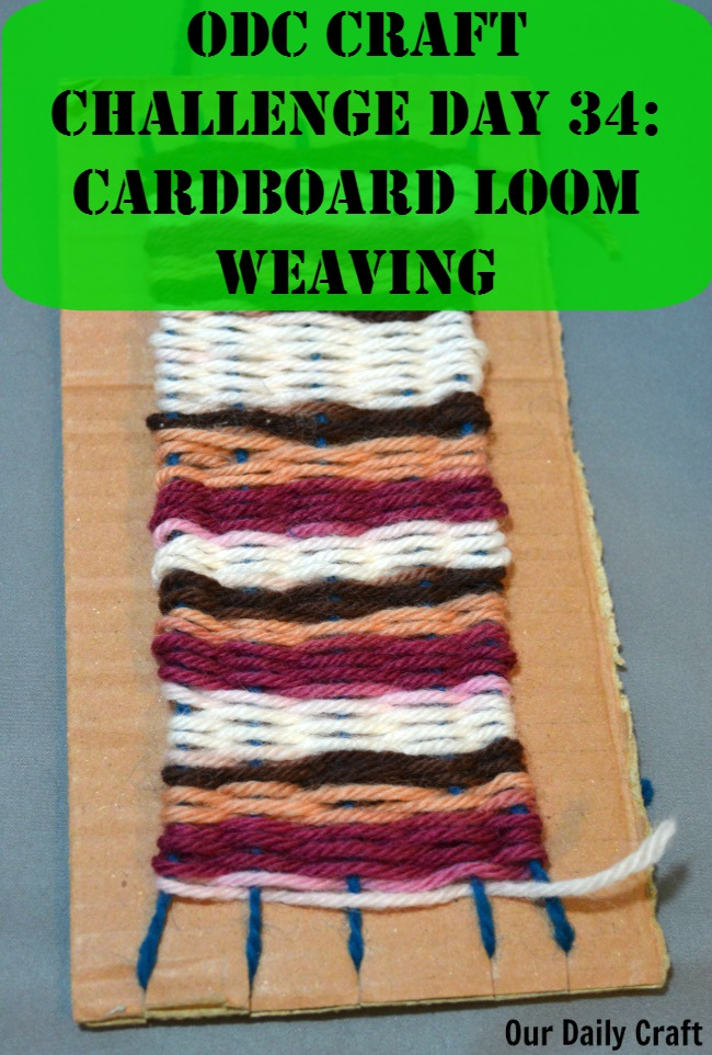 Make a cardboard loom from a scrap piece of cardboard