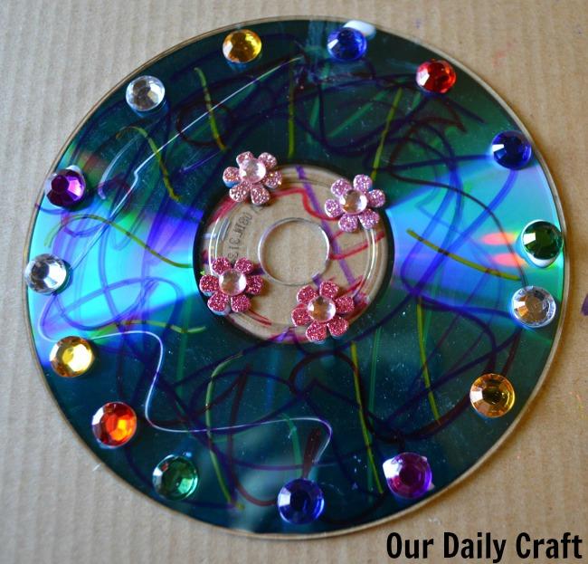 cd flower stickers