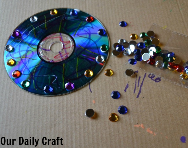 decorate an old cd