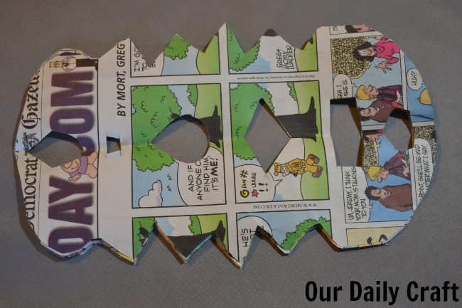 newspaper shapes cut out