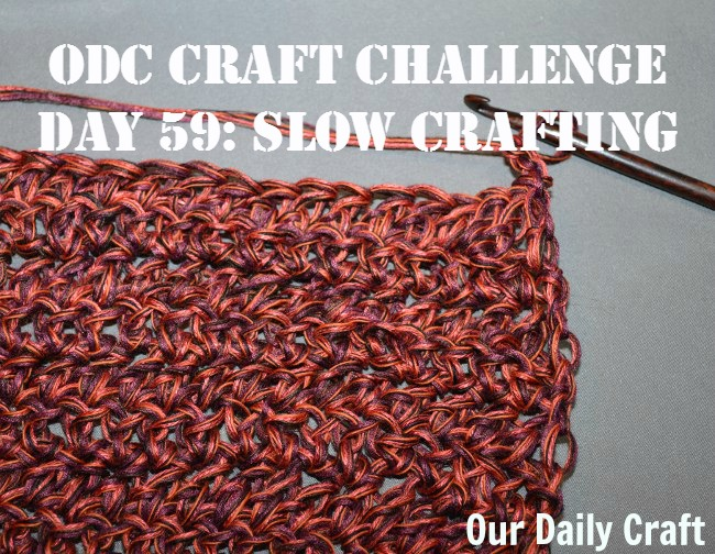 Take it easy with a slow crafting challenge