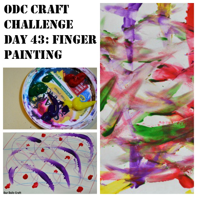 Break out the finger paints (or any paints!) and have fun painting with your fingers.