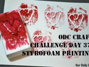 Carve a design in Styrofoam and use it to make a simple print.