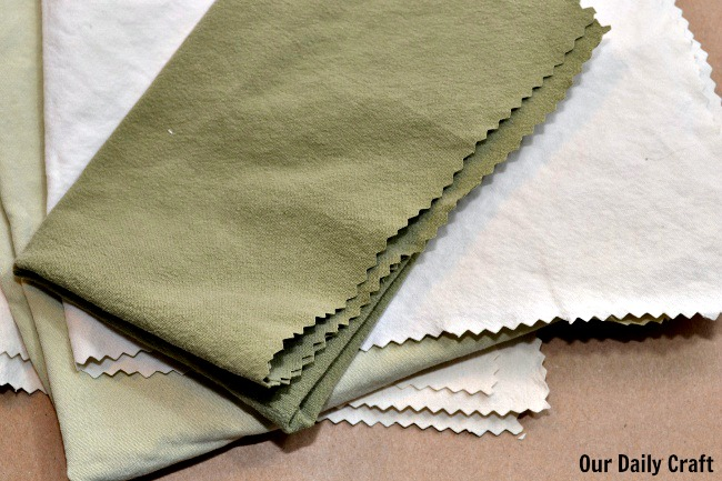 upcycled napkin rags