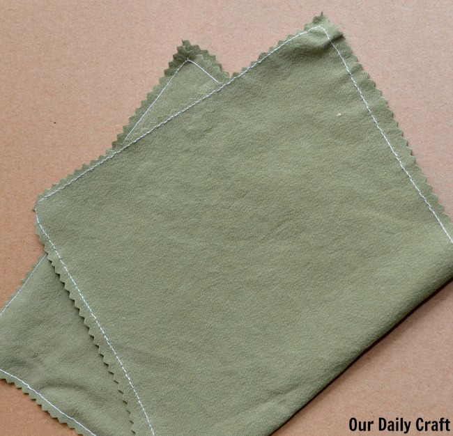 sewn napkin rag