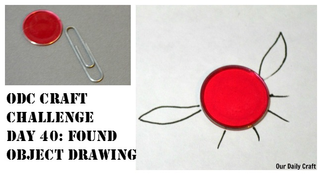 Use random everyday objects as a starter for a drawing