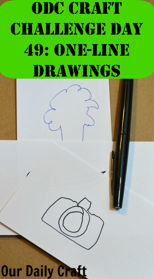 Make a drawing using only one line.
