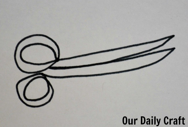 scissors one line srawing