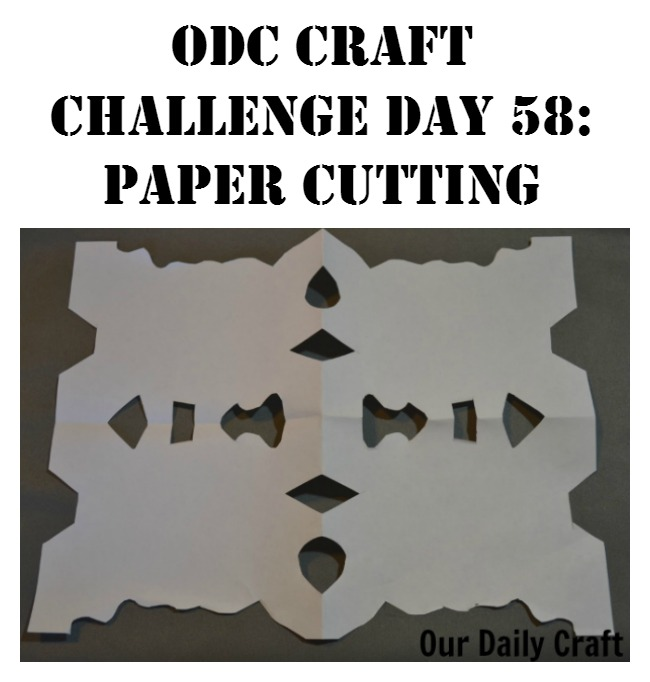 try paper cutting as a quick and easy way to get your craft on