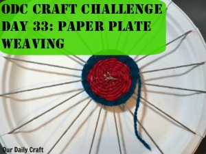 Paper Plate Weaving & Paper Plate Weaving - Our Daily Craft