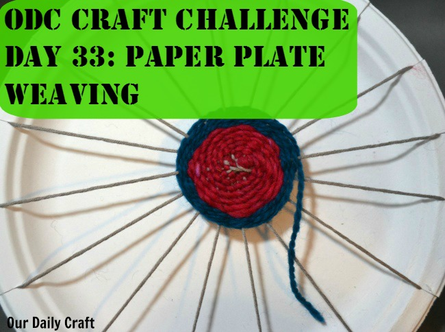 Paper plate weaving is an easy, fun, low set up activity great for adults and kids.