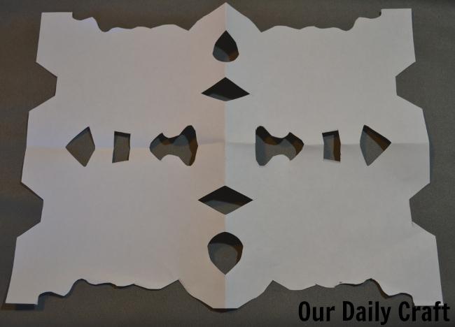 paper cut snowflake