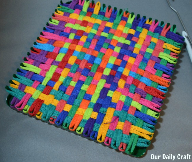 finished potholder