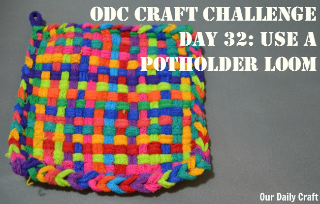 Raid your kids' craft supplies and make a throwback potholder using a potholder loom.