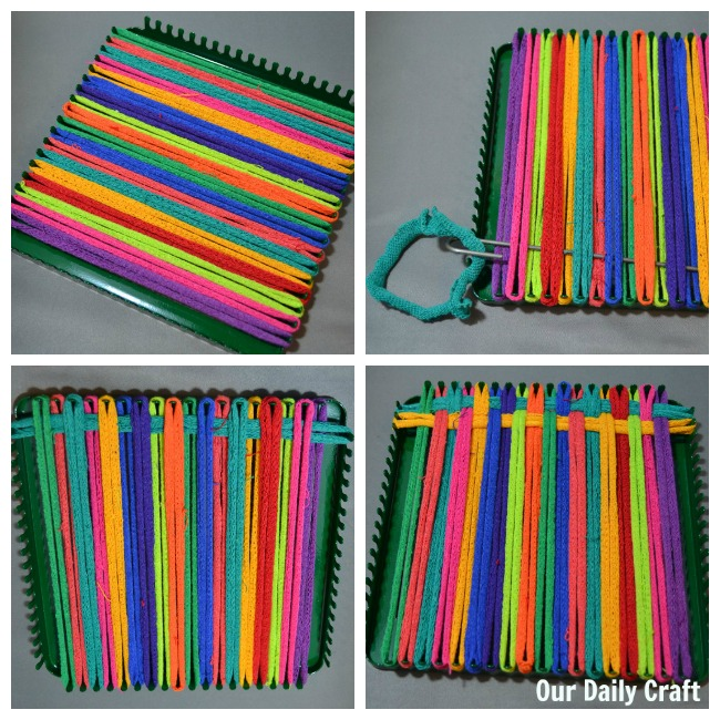 getting started with potholder loom