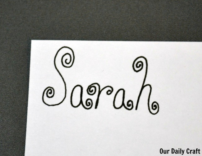 swirly script hand lettering