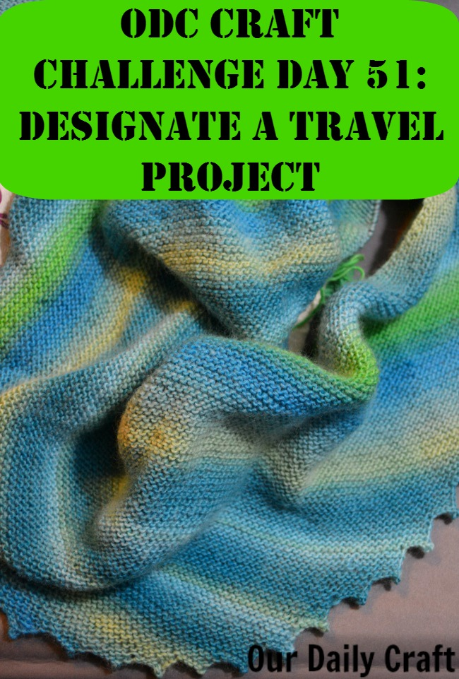 Do you have a creative project you take with you? Why you need a travel project and how to choose one.