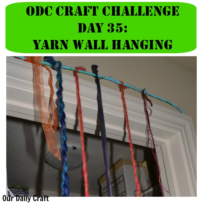 Tie yarn to a stick for a fun and easy wall hanging.