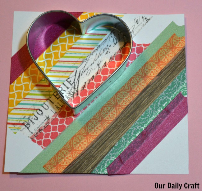 heart shape washi tape