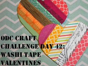 Use washi tape and card stock to make fun shapes for cards