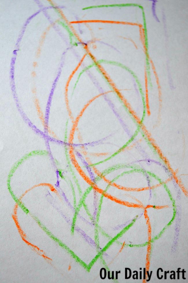 green heart doodle