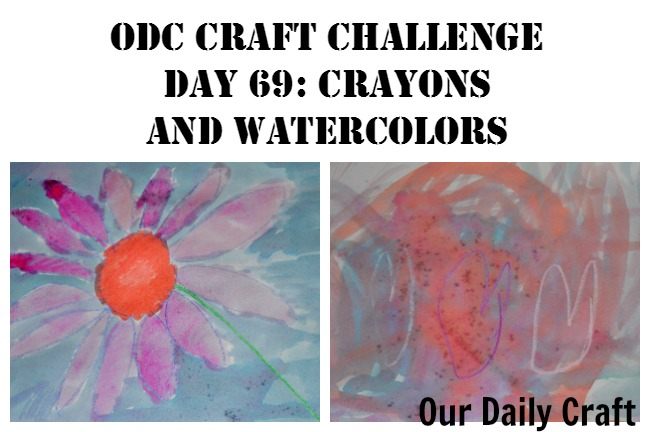 Crayons and Watercolors {Craft Challenge, Day 69}