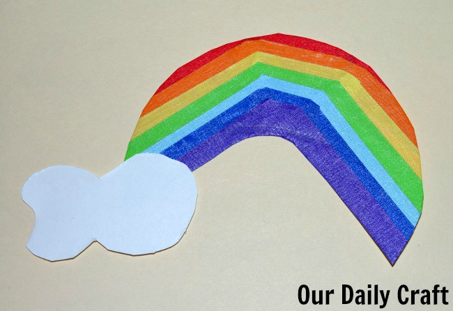 washi tape rainbow with cloud
