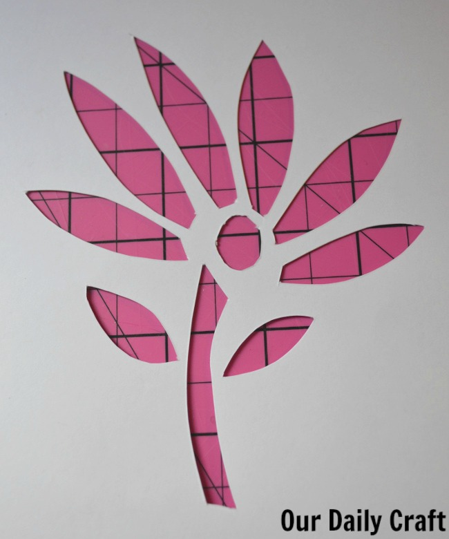 cut paper flower overlay