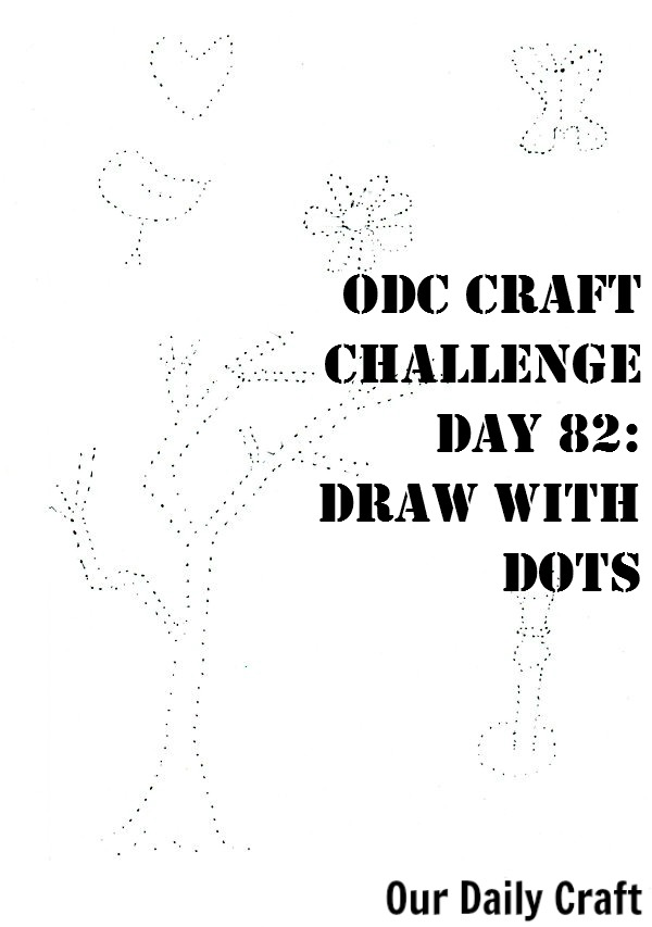 Use dots to make drawings of things you see.