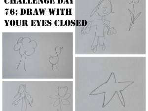 draw with your eyes closed craft challenge day 76 our daily craft