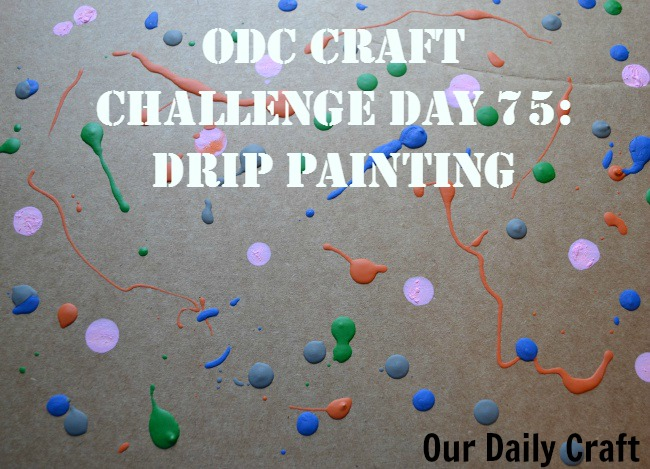 Make a drip painting with random colors of paint.