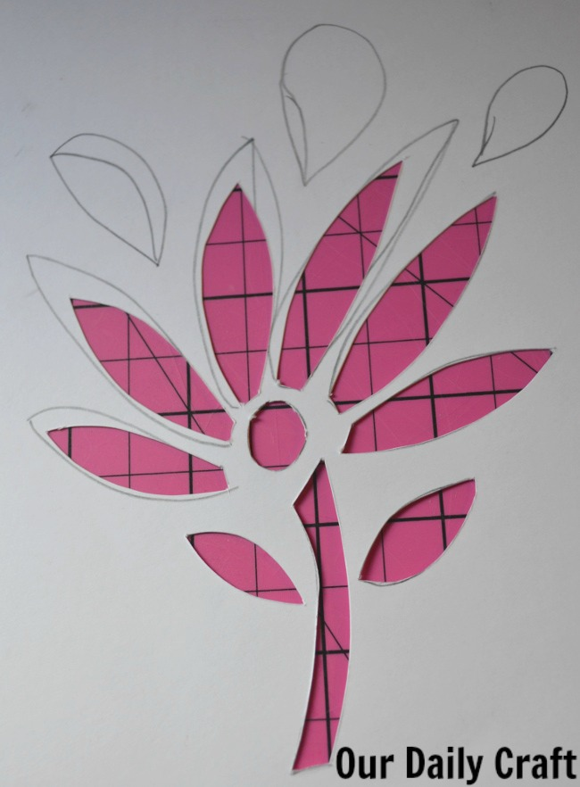 finished cut paper flower cutout