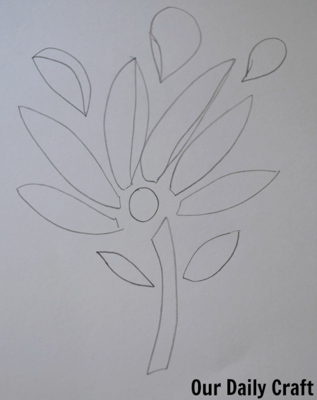 cut flower drawing