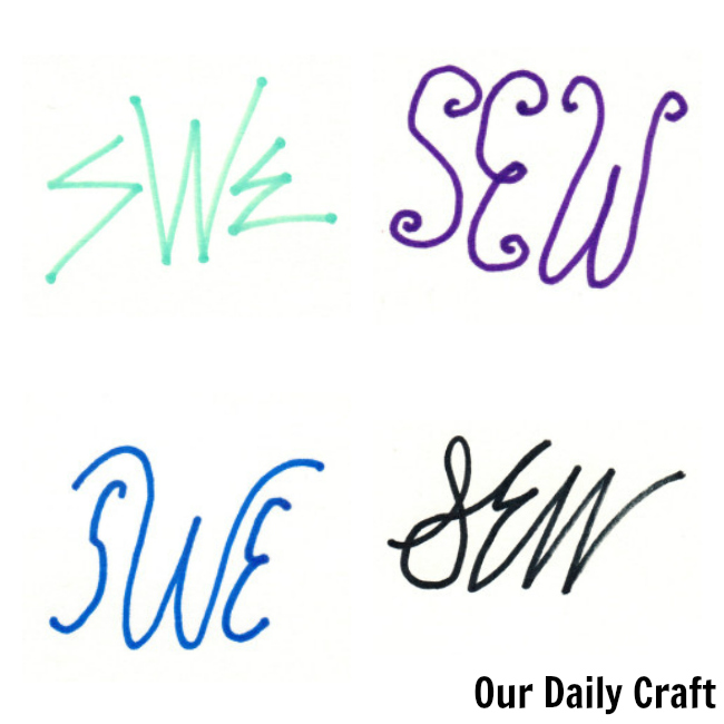 hand drawn monograms
