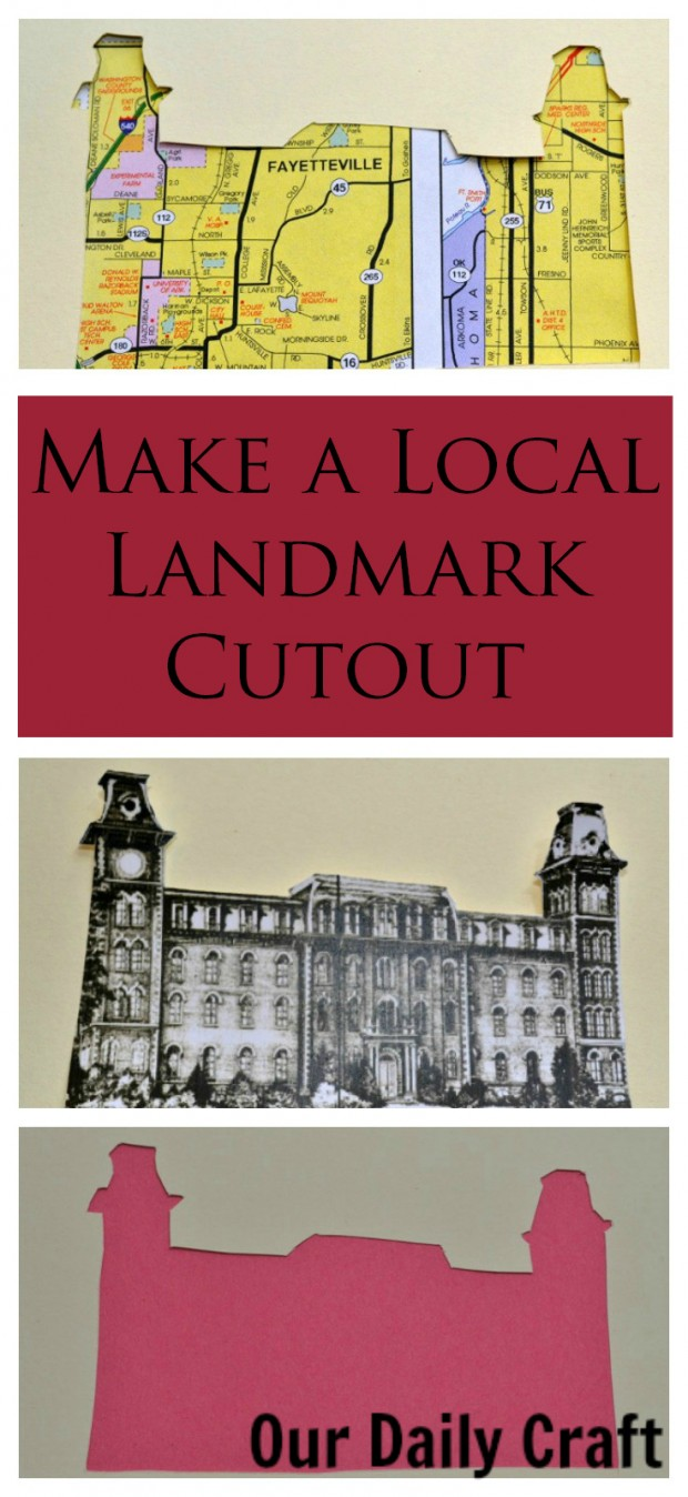 Make a local landmark cutout to celebrate a favorite building in your hometown.