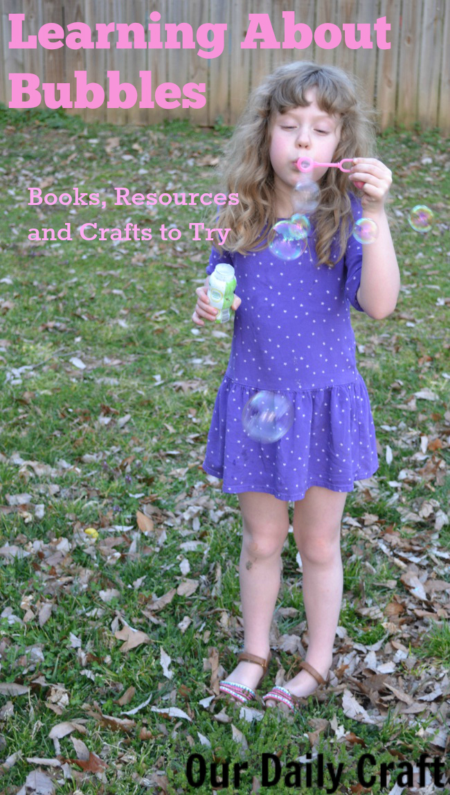 Books, resources, crafts and activities for learning about bubbles