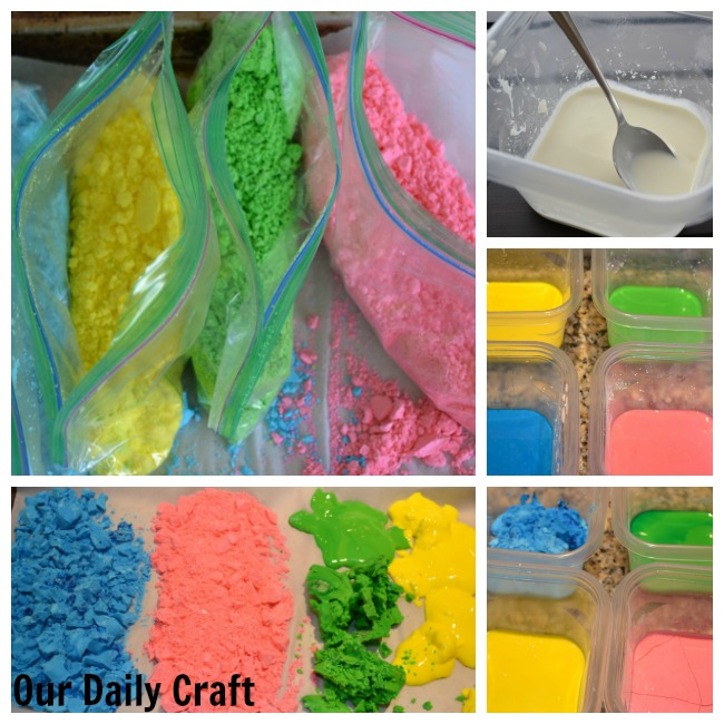 How to make colored throwing powder for holi