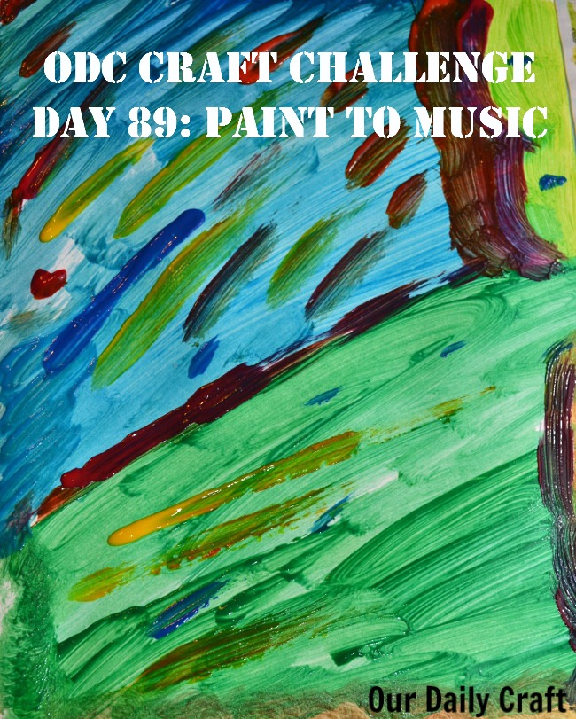 Paint to Music {Craft Challenge, Day 89}
