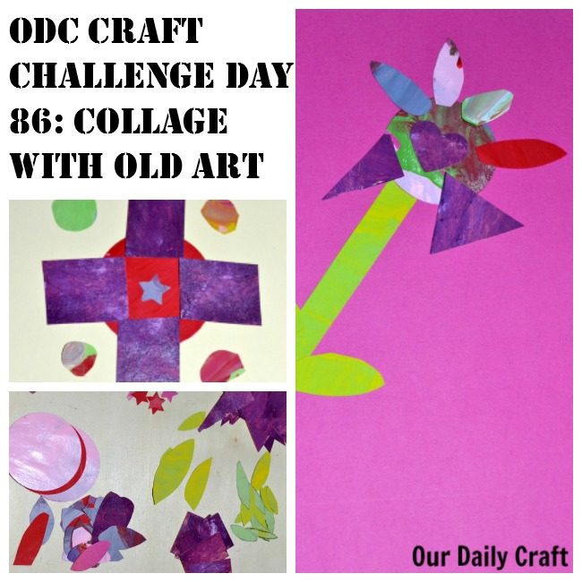 Collage with Old Art {Craft Challenge, Day 86}