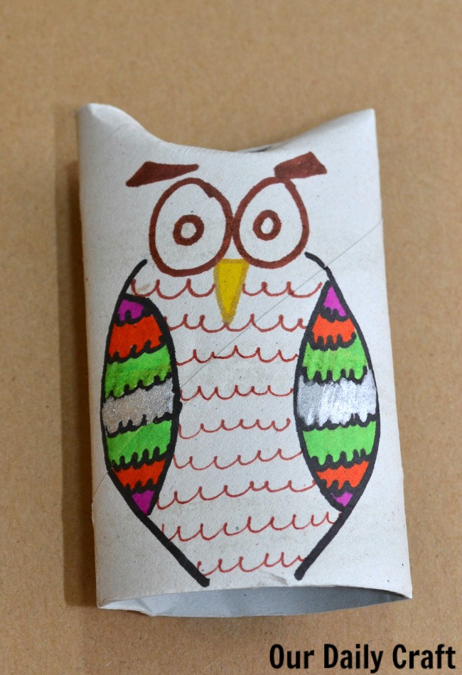 cardboard roll owl