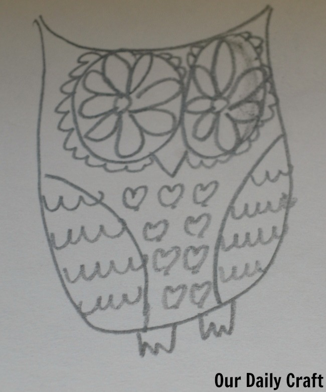 owl drawing art is fun