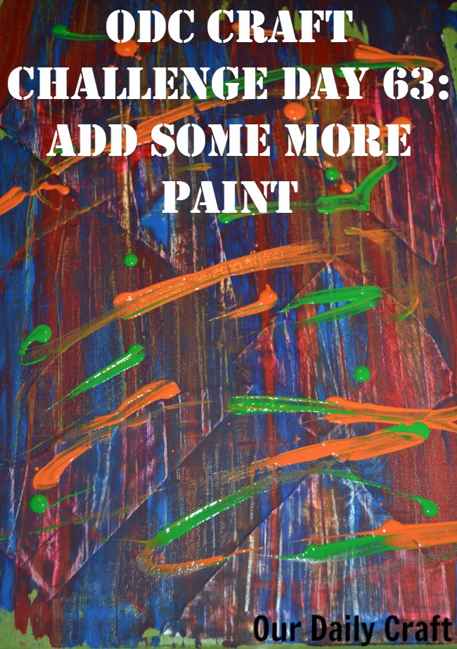 Adding more paint makes the slow art canvas more colorful.