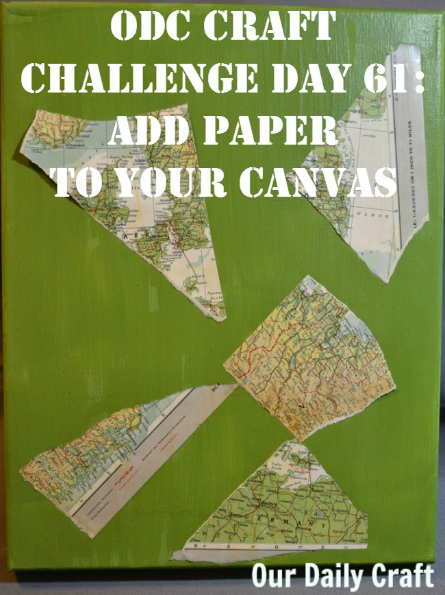 Add paper for texture on your slow art canvas.
