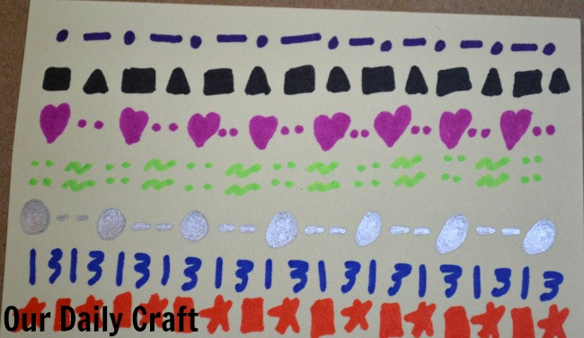 part of a repeating pattern