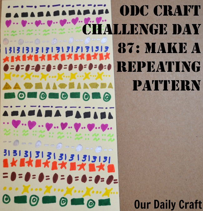 Make a Repeating Pattern {Craft Challenge, Day 87}