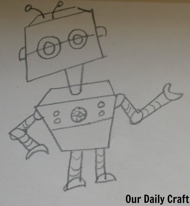 robot from drawing learn to draw