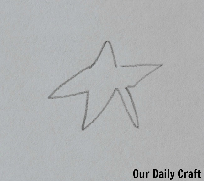 star drawing with eyes closed